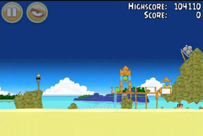 Angry Birds ,Surf and Turf - level 6