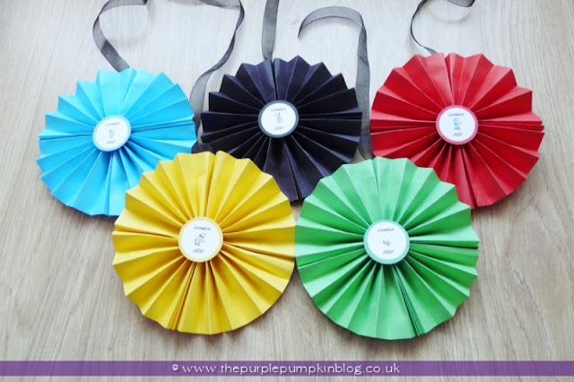 Olympic Rings Wall Paper Fans Decoration at The Purple Pumpkin Blog