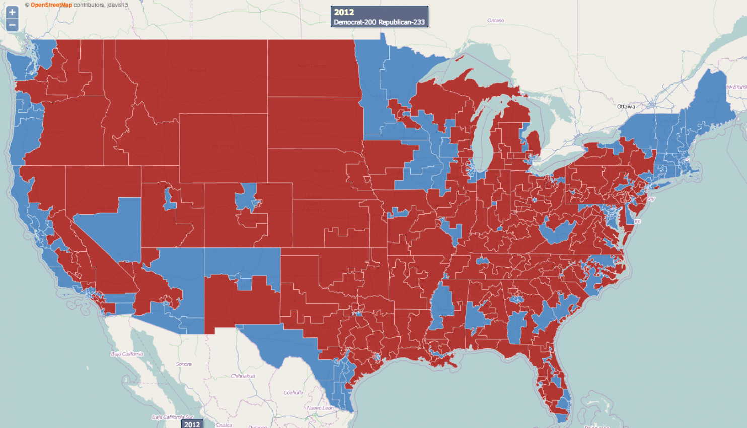 Does The RedStateBlueState Model Of US Electoral Politics How The - Us map 2014