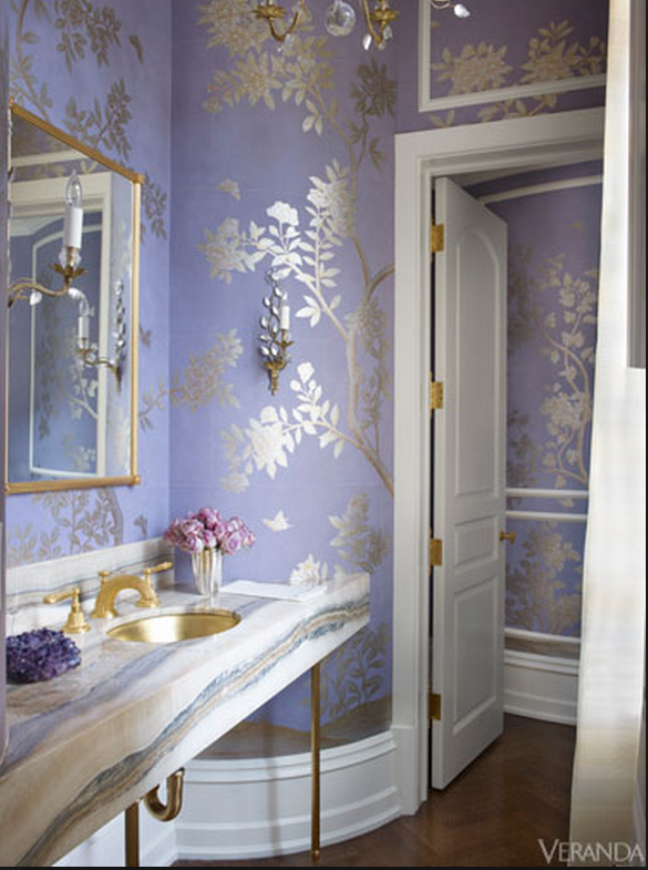 beautiful bathroom in blue
