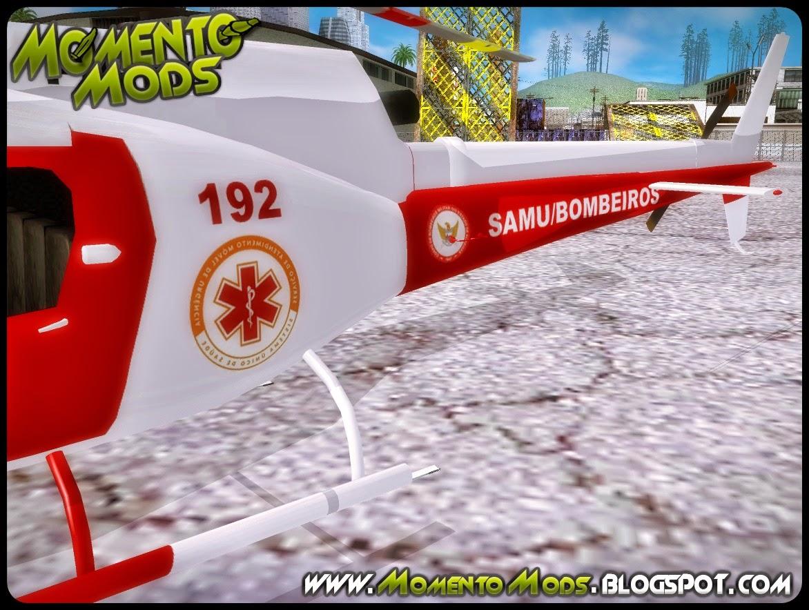 GTA SA - Helicóptero Do SAMU - Bombeiros