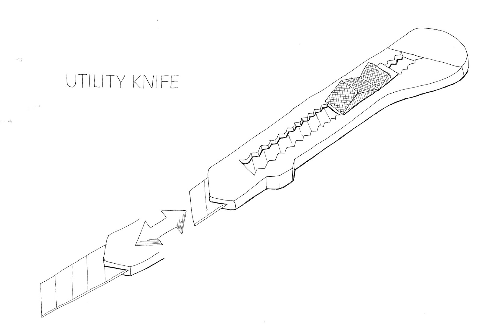 Utility Knife This Drawing Is