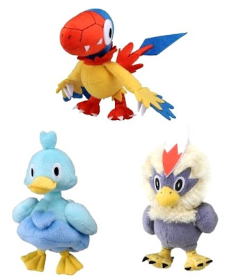 Pokemon Plush Archen Ducklett Rufflet Tomy
