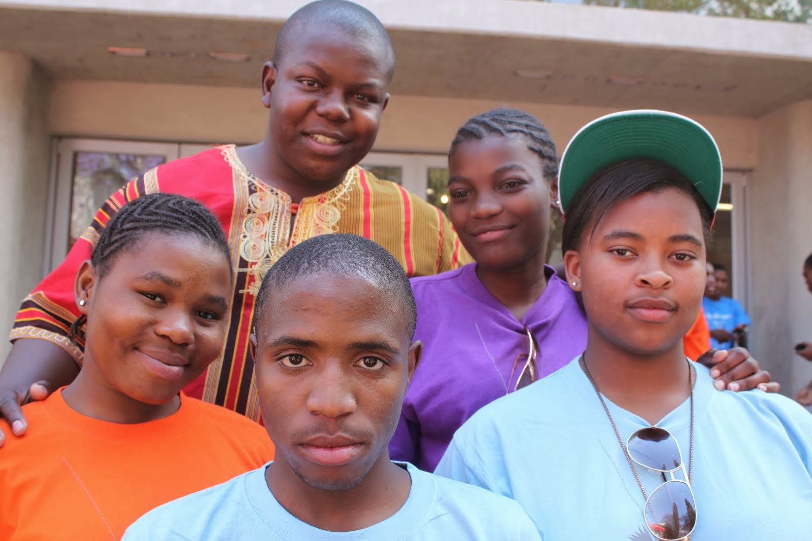 Thabang Mahlangu and his 4 mentees