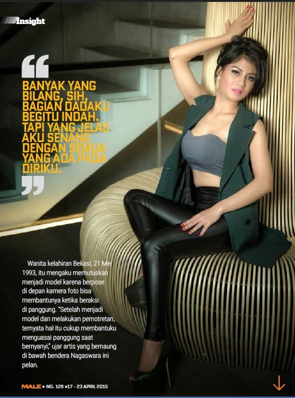 Lina Marlina - Male Magazine Edisi 129 17 APR 2015 - 24 APR 2015