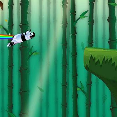 Corra com um unicórnio que solta arco-íris. Robot Unicorn Attack Evolution, dash.