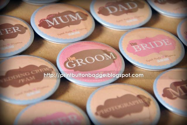 Cetakan Button Badge Majlis Perkahwinan