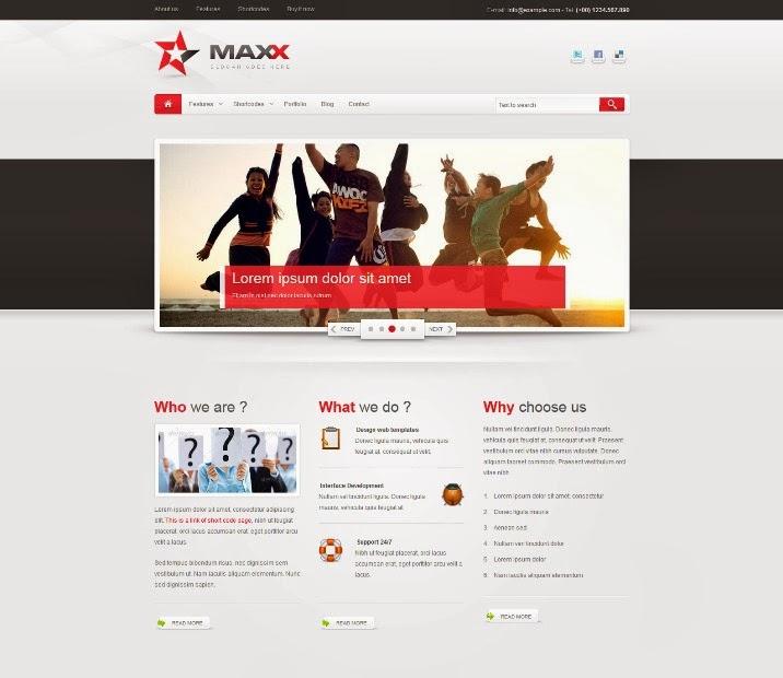 Maxx - Responsive Creative Drupal theme