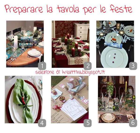 Preparare La Tavola Delle Feste : Preparare la tavola per le feste kreattiva