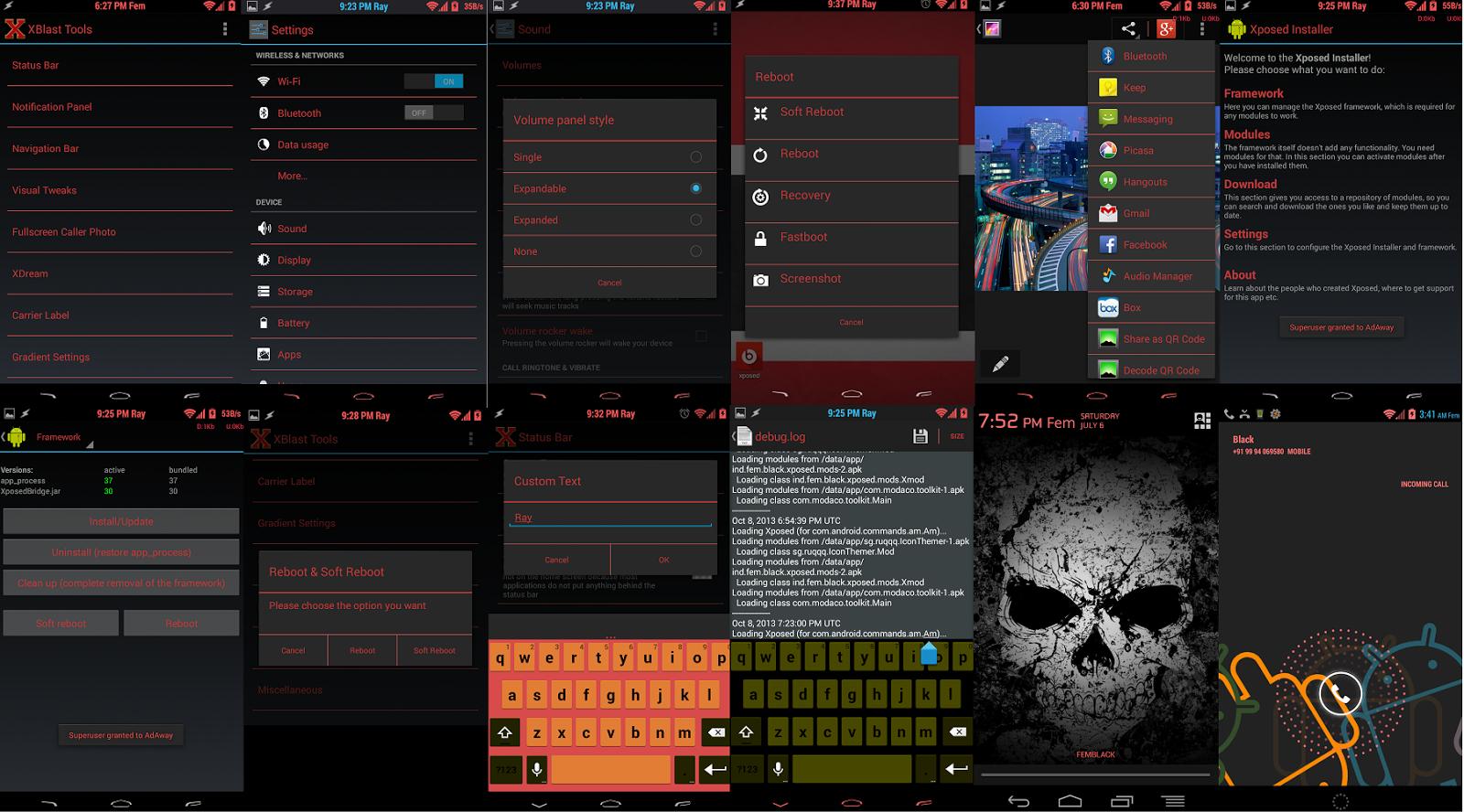 [SOFT] XBLASTTOOLS : Couleurs icônes, horloge centrée, plein écran lors d'appels, CRT... [XPOSED][Gratuit/Payant][24.11.2013] Xblast1