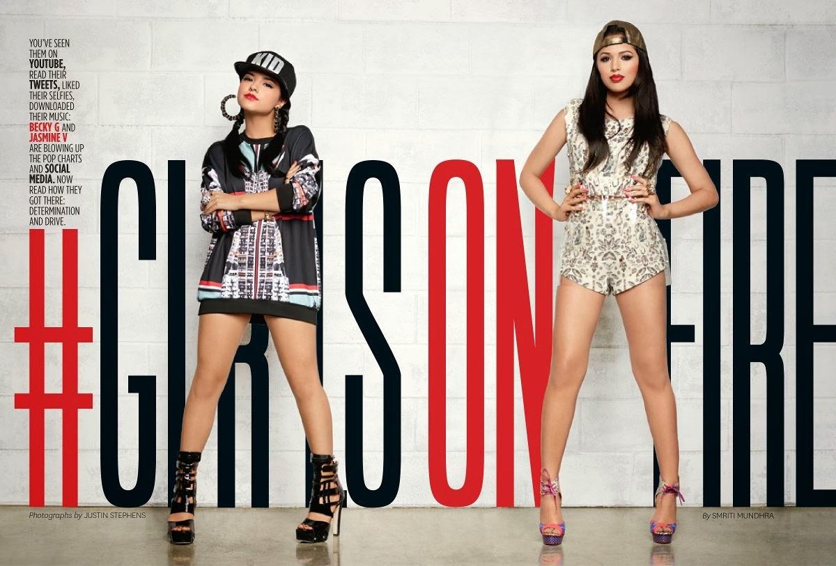 Magazine Photoshoot : Jasmine V and Becky G Photoshot For Latina Magazine February 2014 Issue