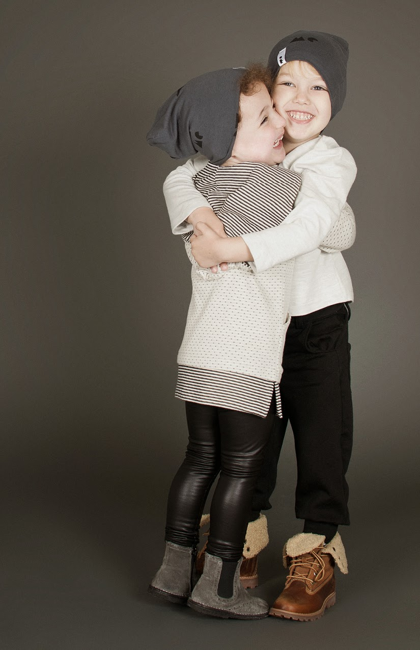 Cool monochrome style by Omamini for Autumn/Winter 2014-15 kids fashion collection