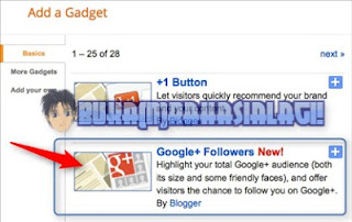 add google+ followers gadget
