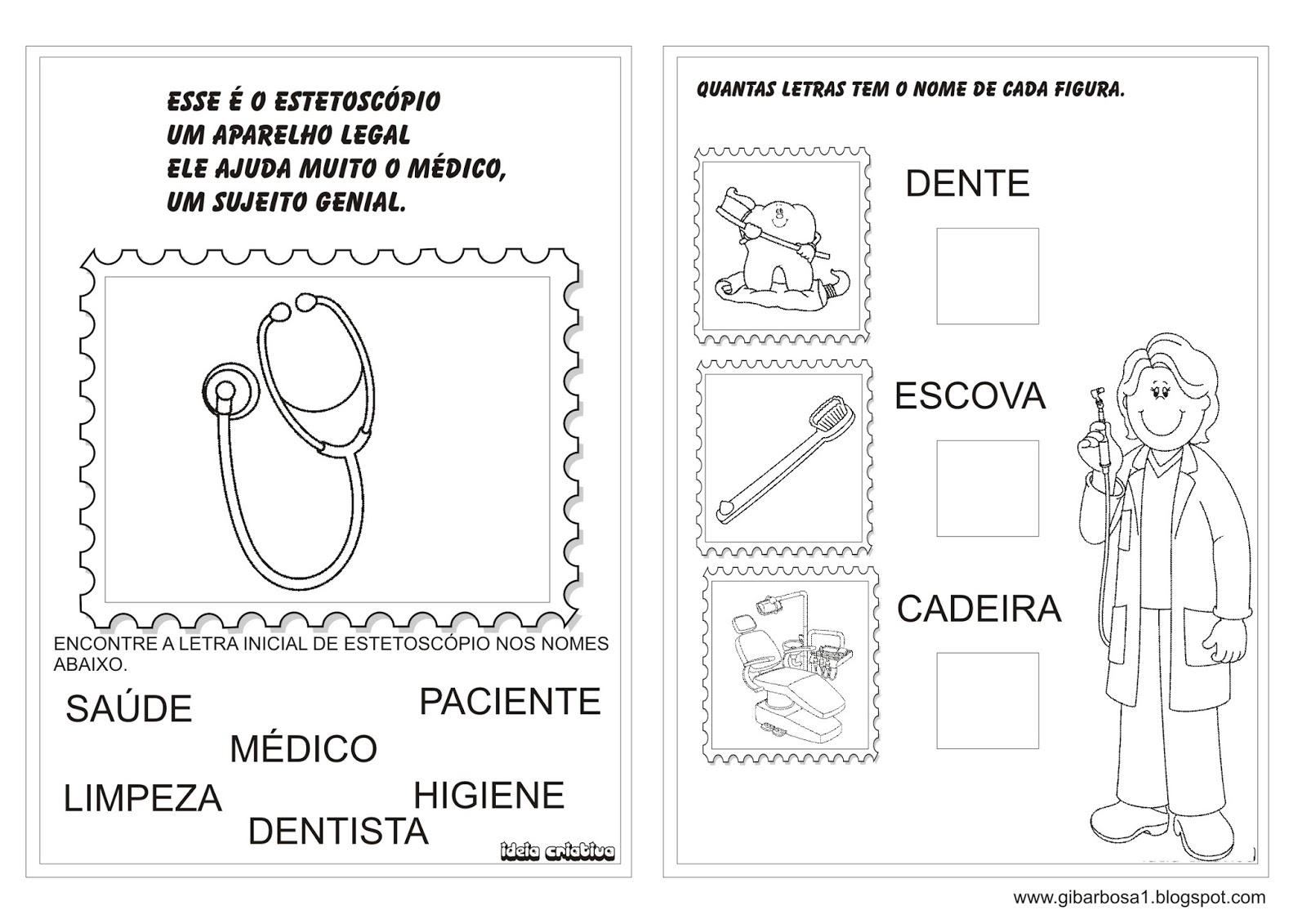 Extremamente Álbum de Atividades Dia da Saúde | Ideia Criativa - Gi Barbosa  NU42
