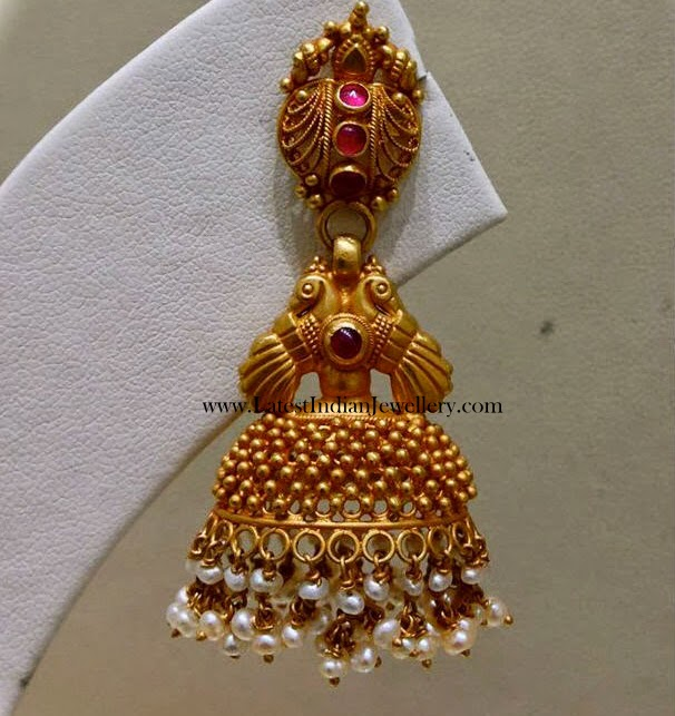 Latest Fancy Gold Jhumka Earring