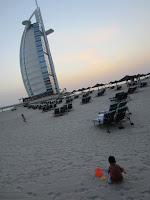 The beach at the Burj Al Arab