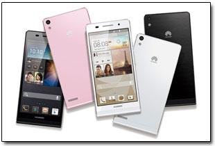 Смартфон Huawei Ascend P6 будет поставляться в магазины в корпусах трех цветов: черного, белого и розового.