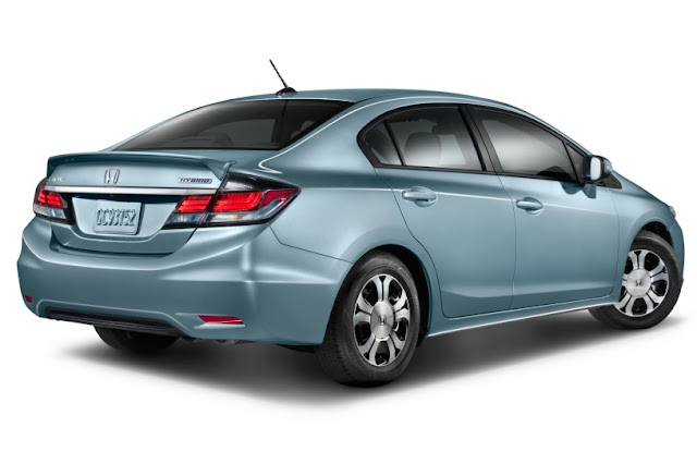 2015 New  Honda Civic MOdel Hybrid back view