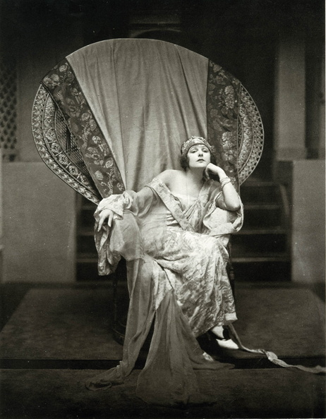 Silent Film Star Norma Talmadge || Allegory of Vanity