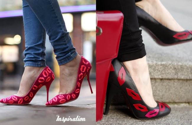 Video tutorial diy lip kisses heels created by xenia kuhn for fashion blog www.fashionrolla.com