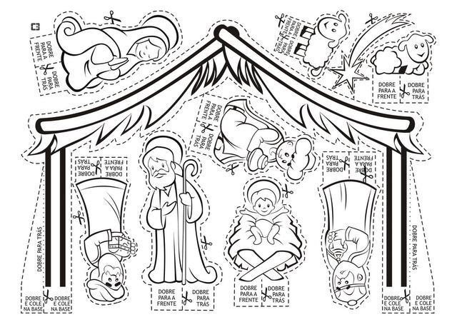 Parroquia La Inmaculada: Belén para colorear, recortar y montar!!