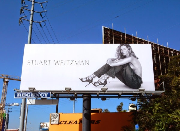 Stuart Weitzman shoes Giselle Bundchen S15 billboard