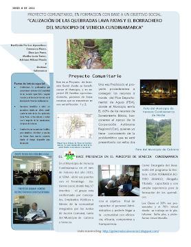 CANALIZACIÓN DE LAS QUEBRADAS LAVA PATAS Y EL BORRACHERO DEL MUNICIPIO DE VENECIA CUNDINAMARCA