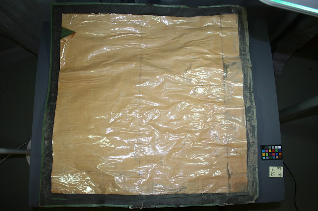old repairs to paper, art conservator needed, before treatment photo of antique map, historic document repair