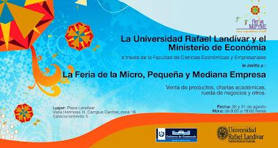 Feria de la Micro, Pequeña y Mediana Empresa, Universidad Rafel Landivar