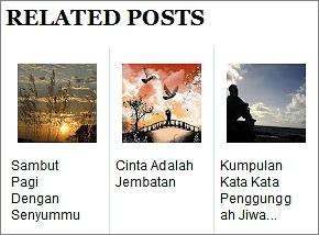 Membuat Related Post Dengan Gambar