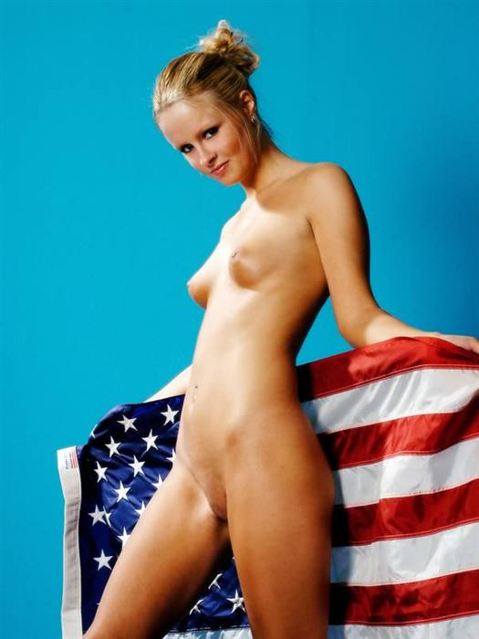 Idea brilliant Girl naked with american flag will not