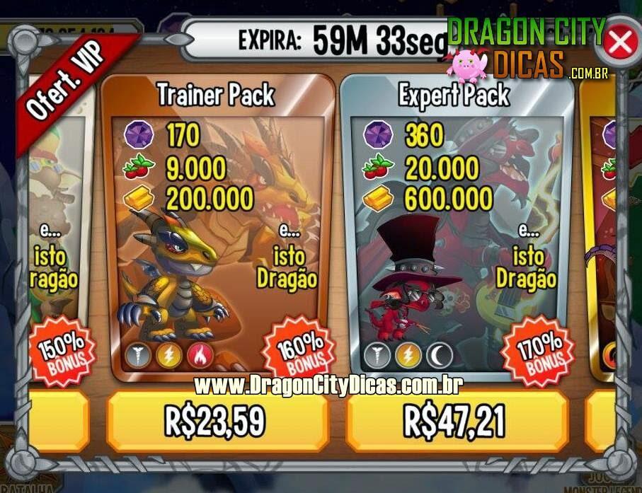 Ofertas VIP do Dragon City