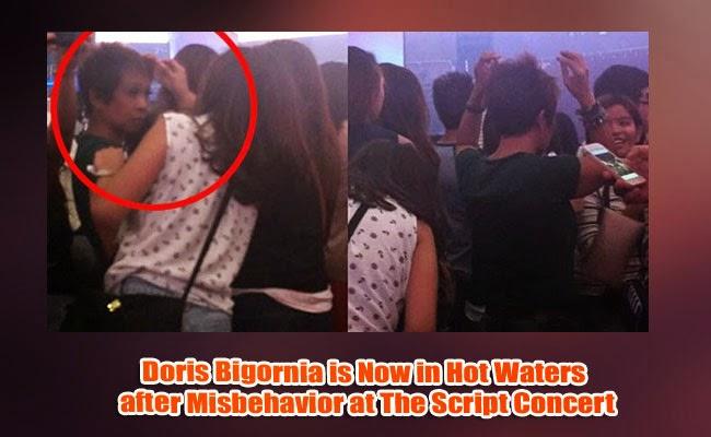 Doris Bigornia is Now in Hot Waters after Misbehavior at The Script Concert