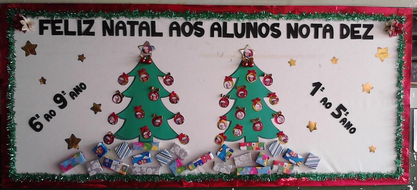Sala de inform tica mural alunos nota dez de natal 2012 for Mural sobre o natal
