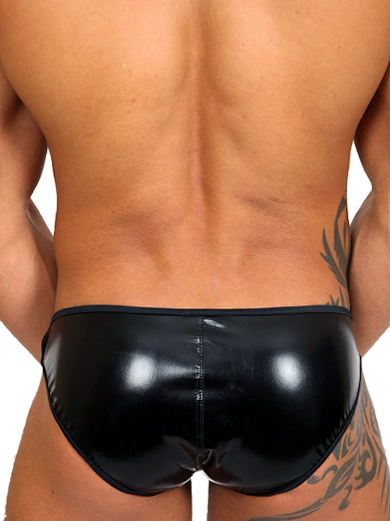 Pistol Pete Master Brief Mens Underwear Black Back Gayrado