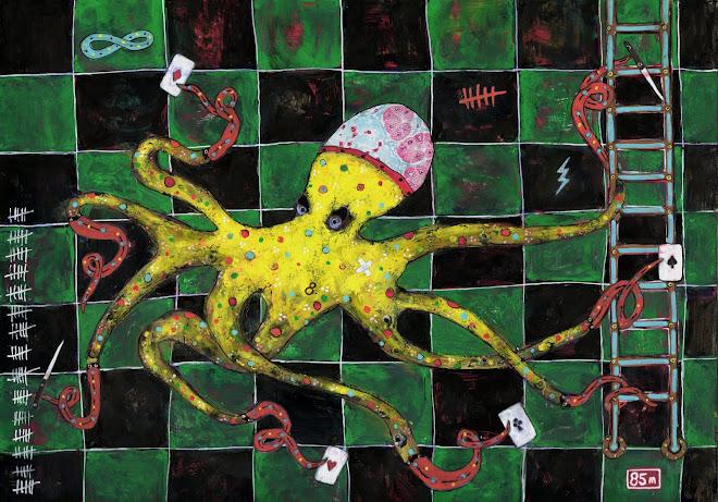 Octopus    21x30 cm