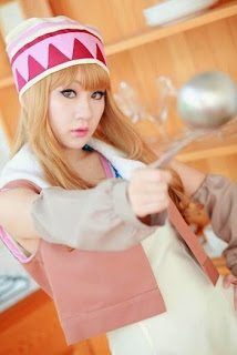 Koyuki cosplay as Karina Lyle from Tiger and Bunny