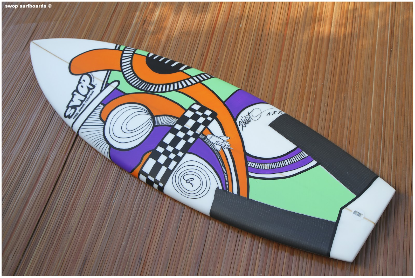 Swop surfboards five three chop tail - Decorer sa planche de surf ...