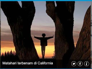 inovLy media : Matahari terbenam di California