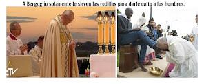 Bergoglio es tratado como un dios mientras que el mismo rechaza adorar a Dios