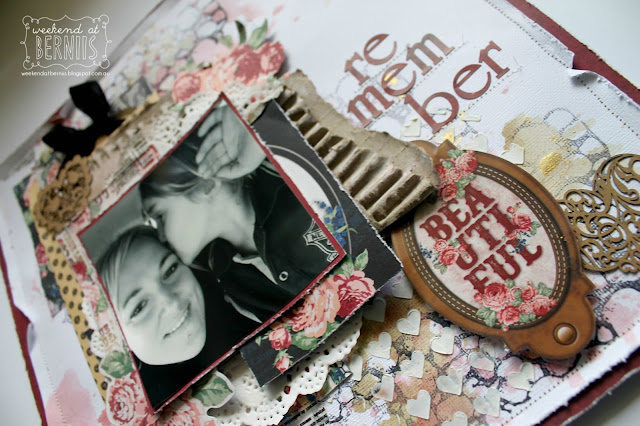 Remember Layout by Bernii Miller for BoBunny using the Love & Lace collection.
