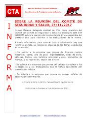 SOBRE LA REUNIÓN DEL COMITÉ DE SEGUIRDAD Y SALUD, 27/11/2017