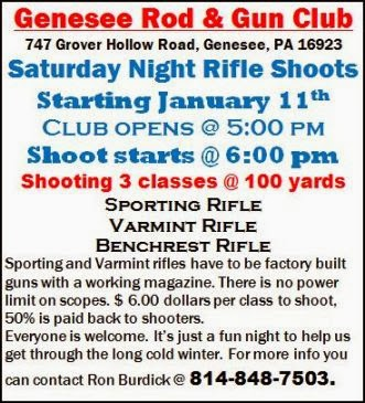 3-8 Saturday Night Rifle Shoots