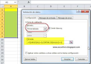 La validación de datos y las duplicidades en Excel.
