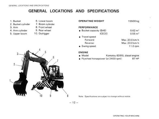 free automotive manuals komatsu pw150 1 operation maintenance manual rh freeautomotivemanual blogspot com General Contractor Operations and Maintenance Manual Operations and Maintenance Manual for Lab Safety