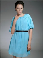 Mini Sheath Chiffon Dress with Scoop and Middle Sleeve Style