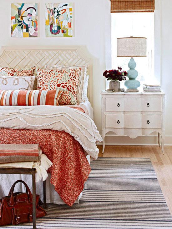 Decoração de quarto com abajur