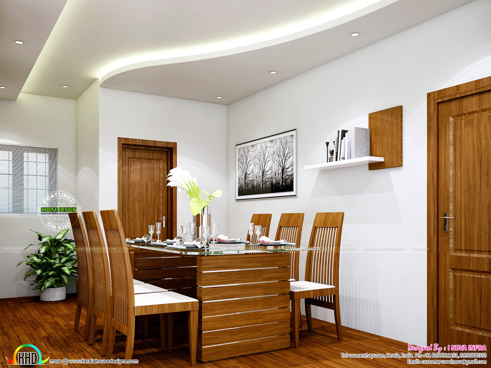 New classical interior works at trivandrum kerala home for Kerala interior designs