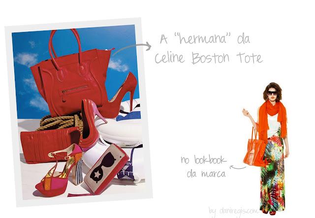 Inspiração da Celine Boston Tote