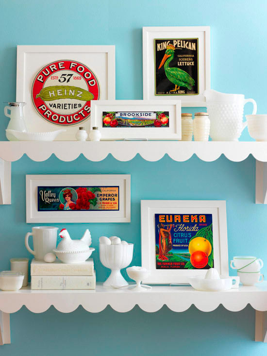 Dishfunctional designs create an eclectic gallery wall - Ideas para remodelar la cocina ...